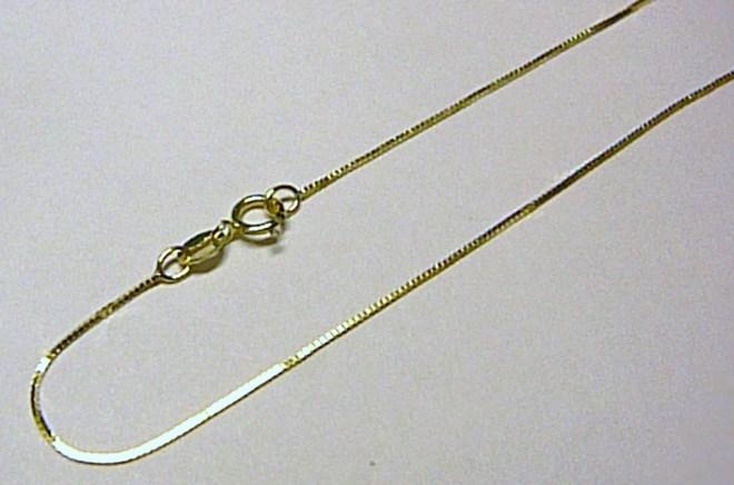 Moderní dětský zlatý kostičkovaný řetízek (Benátský) 36cm 585/1,0gr 3640138 (3640138)