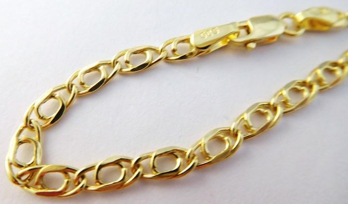 Mohutný pánský zlatý řetěz (řetízek) šíře 3mm 585/3,85gr 55cm 3640136