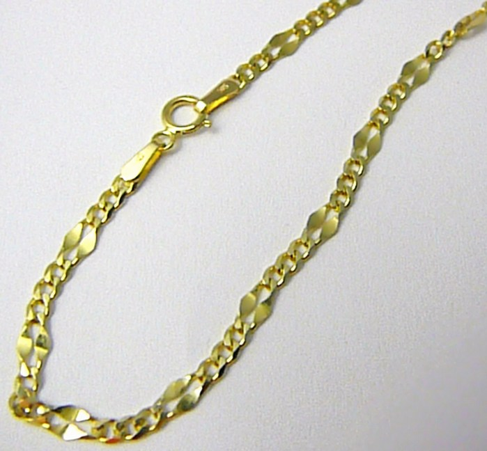 Mohutný pevný zlatý řetízek 50cm (kávové zrno) 585/2,06gr H767