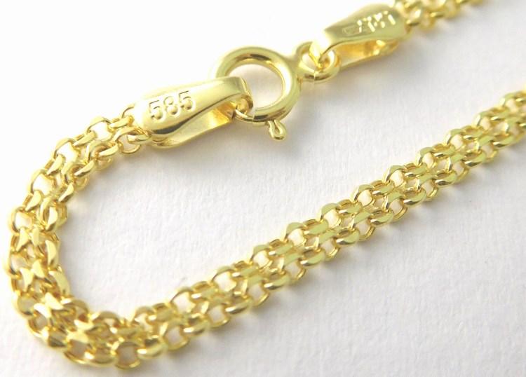Mohutný pánský zlatý řetízek (šířka 2,5mm) 585/2,45gr 55cm 3640065