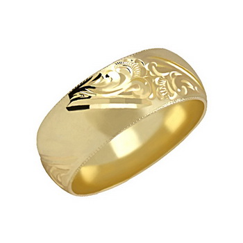 Zlatý snubní prsten č. 83 - 585/7,00g