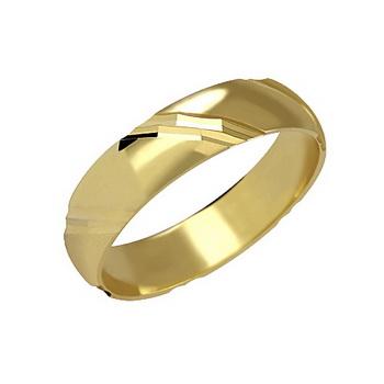 Zlatý snubní prsten č. 105 - 585/3,50g