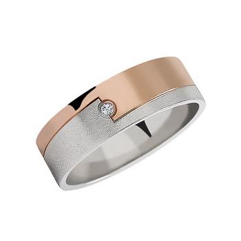 Zlatý snubní prsten č. 158 se zirkony (briliant. vzor) - 585/4,20g
