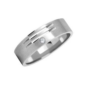 Zlatý snubní prsten č. 224 se zirkony (briliant. vzor) - 585/4,50g