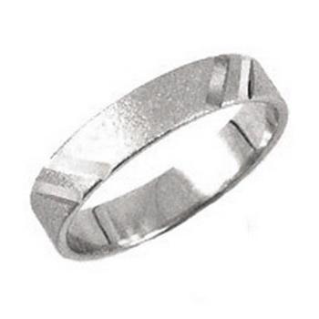 Zlatý snubní prsten č. 331 - 585/2,65g - z bílého zlata