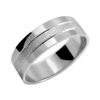 Zlatý snubní prsten č. 342 - 585/4,50g z bílého zlata