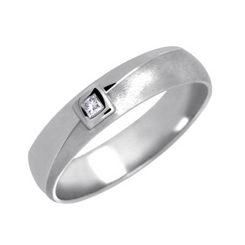 Zlatý snubní prsten č. 343 se zirkony (briliant. vzor) - 585/3,90g