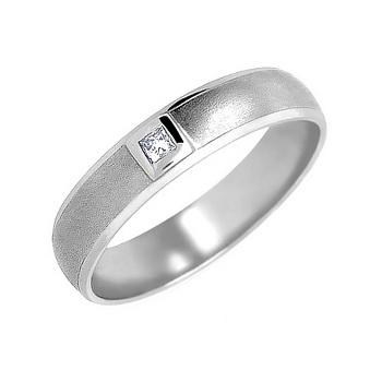 Zlatý snubní prsten č. 345 se zirkony (briliant. vzor) - 585/4,00g z bílého zlat
