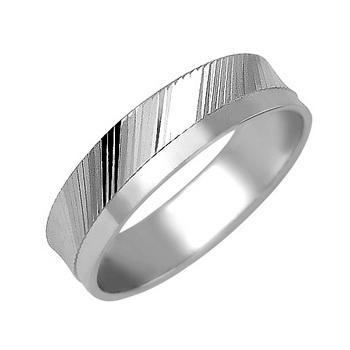 Zlatý snubní prsten č. 348 - 585/3,10g z bílého zlata