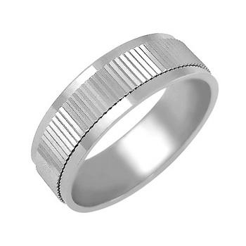 Zlatý snubní prsten č. 349 - 585/4,55g z bílého zlata