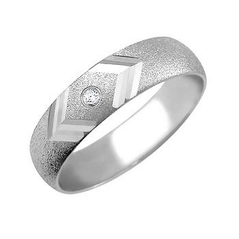 Zlatý snubní prsten č. 351 - se zirkony (briliant. vzor) 585/3,70g z bílého zlat