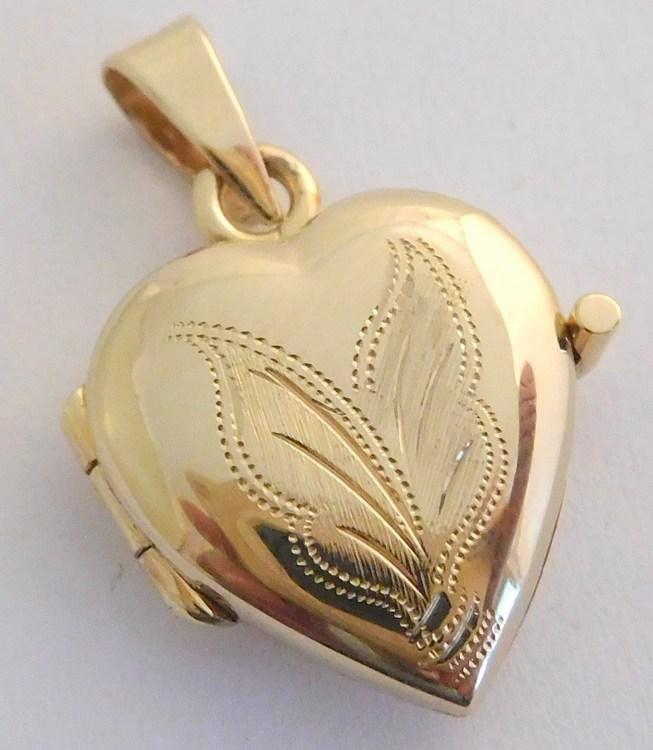 Zlatý velký medailon - medailonek ze žlutého zlata otevírací 585/2,35gr T274