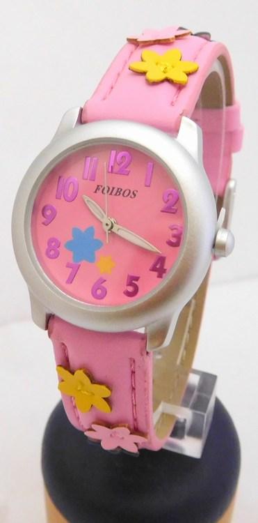 959f68b1dbb Dětské dívčí růžové hodinky Foibos 1055.3 pro malé děvčata - 3ATM ...