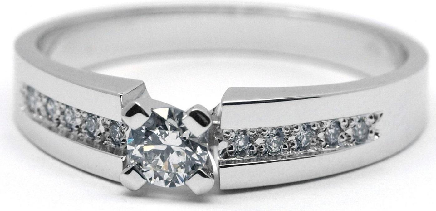 Zásnubní diamantový zlatý prsten s diamanty J-28759-17