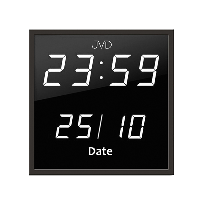 Velké svítící digitalní nástěnné hodiny JVD DH41.2 s bílými LED číslicemi