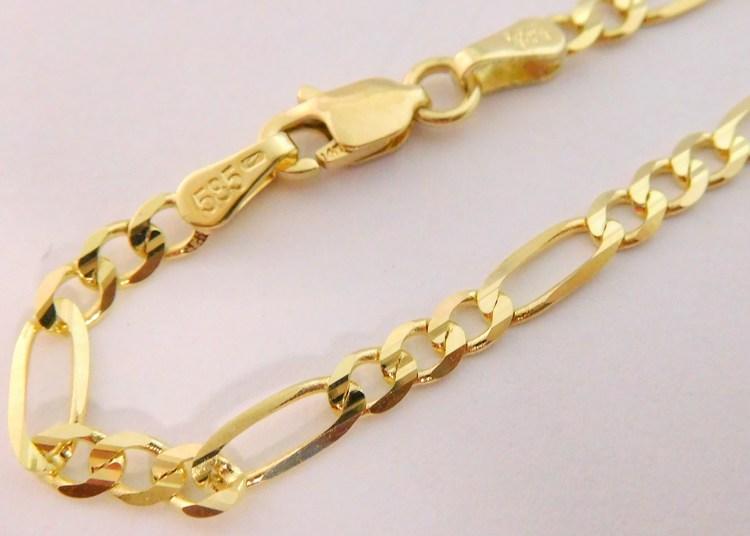 f567dd3ab Pánský mohutný plný zlatý náramek FIGARO 22cm šíře 3mm 585/2,87gr 3640123