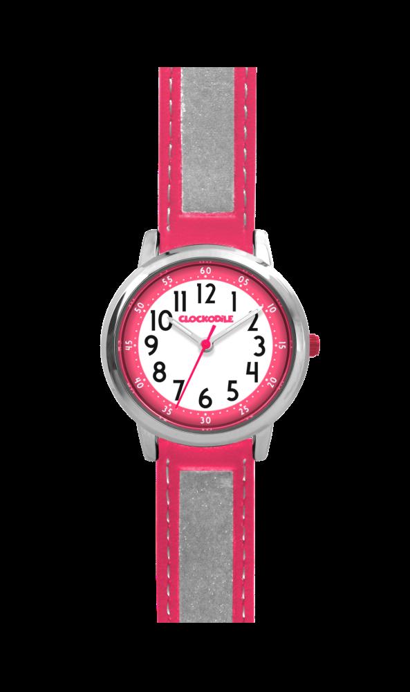 Růžové reflexní dětské hodinky CLOCKODILE REFLEX CWX0012 ... ca5f66cbfe7