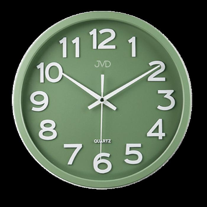 Plastové pastelové nástěnné tiché netikající dětské hodiny JVD HX2413.12