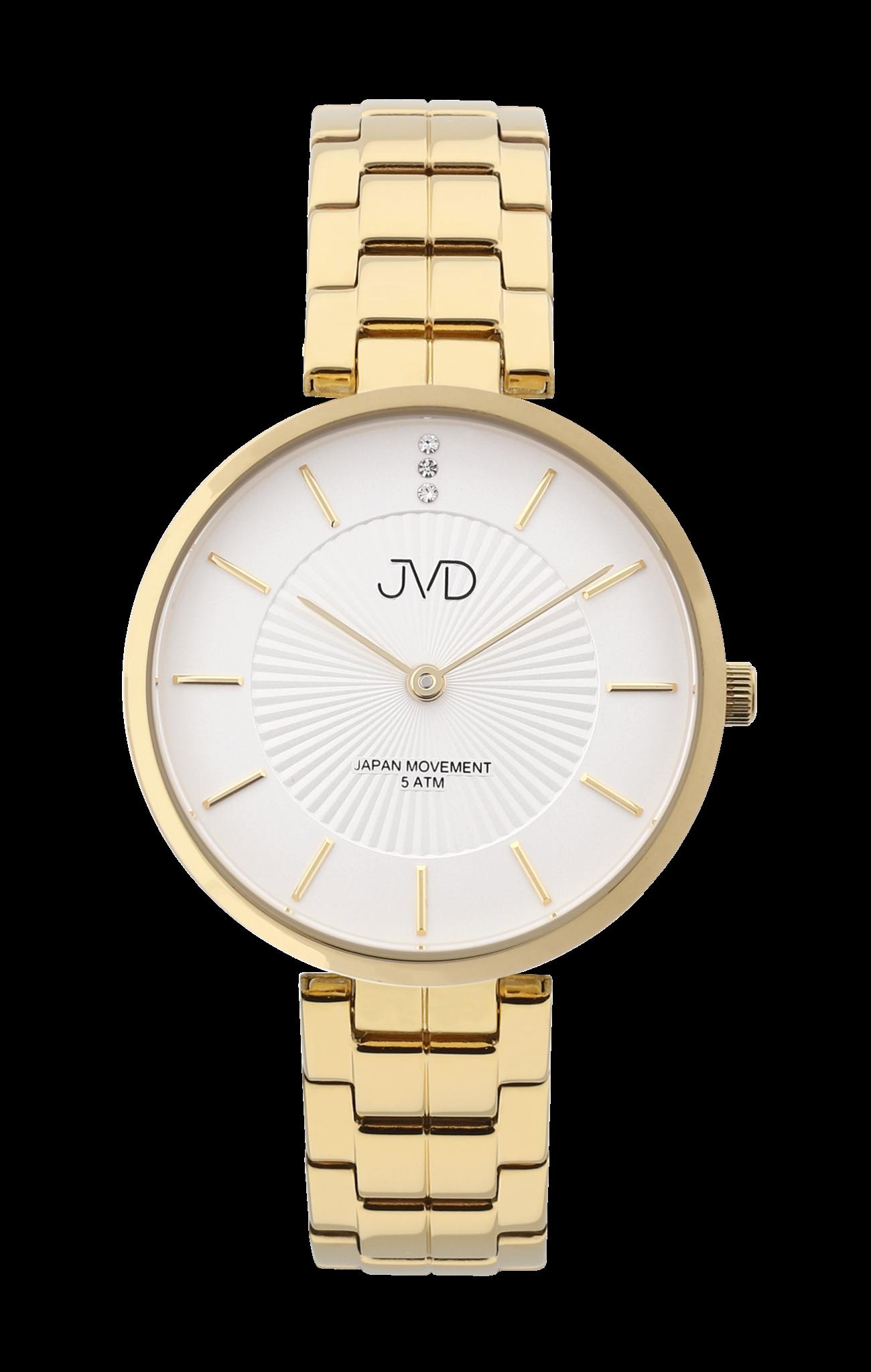 0da95fd9501 Zlacené dámské čitelné elegantní hodinky JVD J4170.2