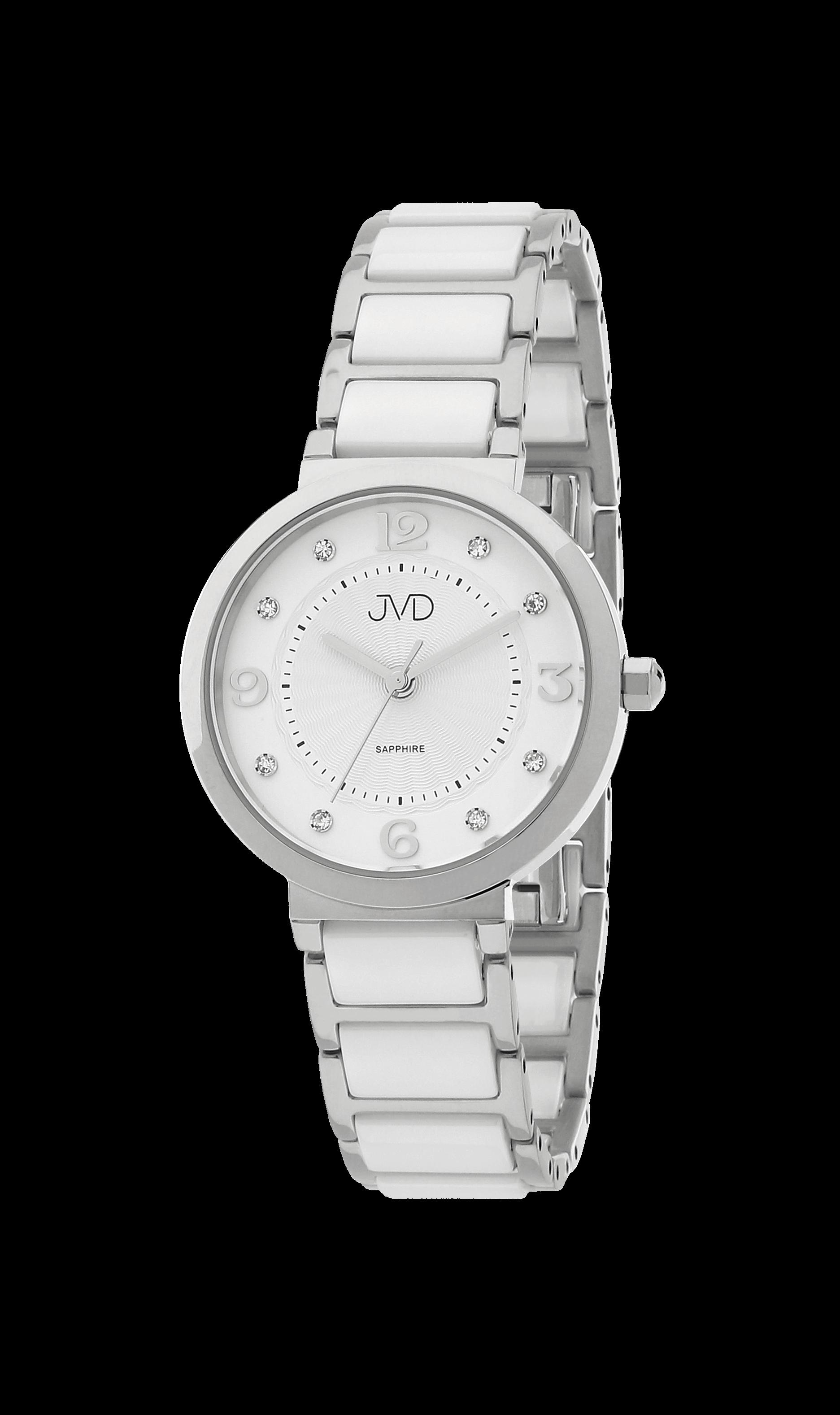 a3d68827c Dámské náramkové hodinky JVD JG1004.1 se safírovým sklem a keramickými prvky