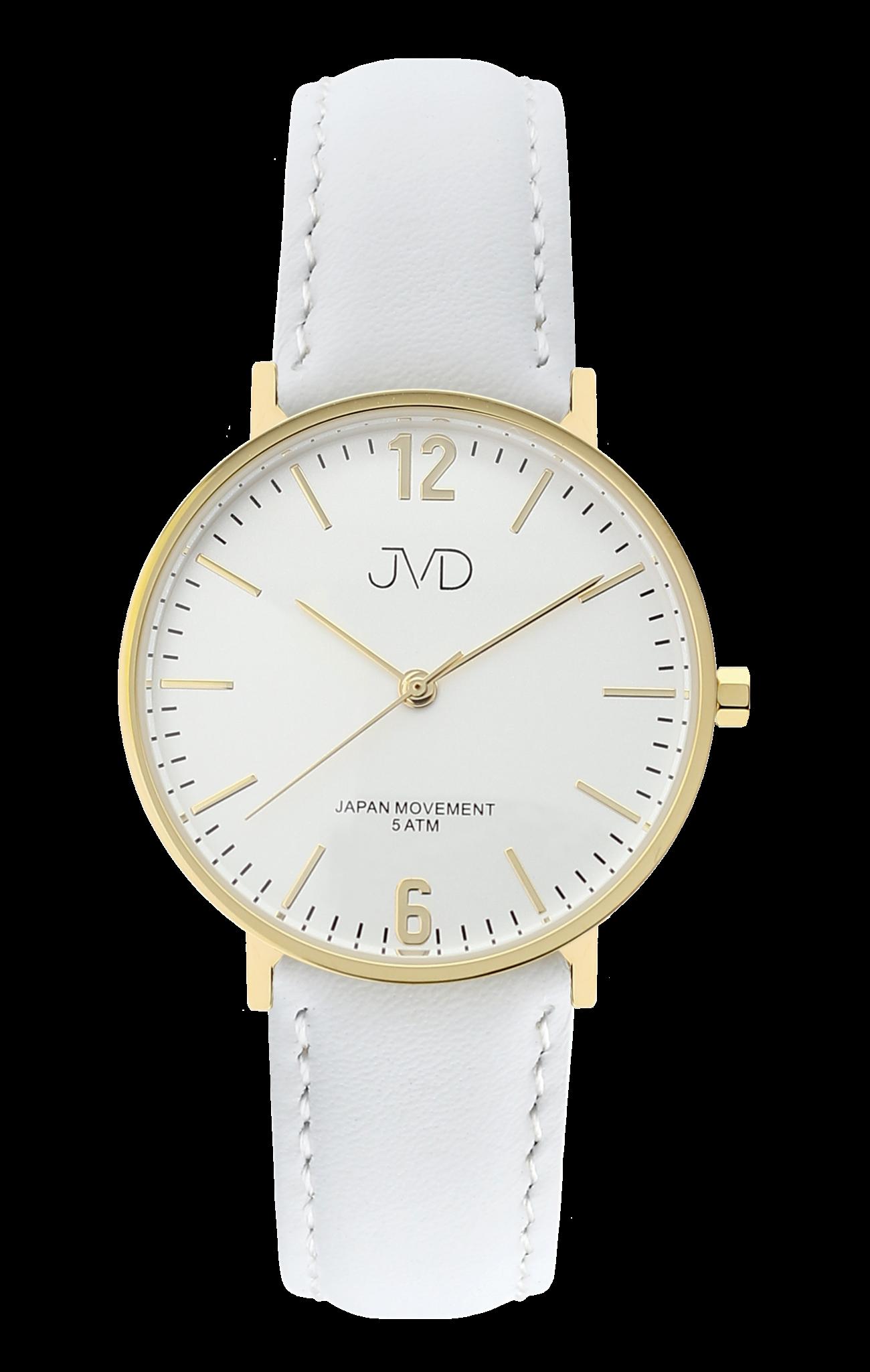 Bílé dámské luxusní elegantní hodinky JVD J4173.2 se zlatými prvky ... 992cf9bae76