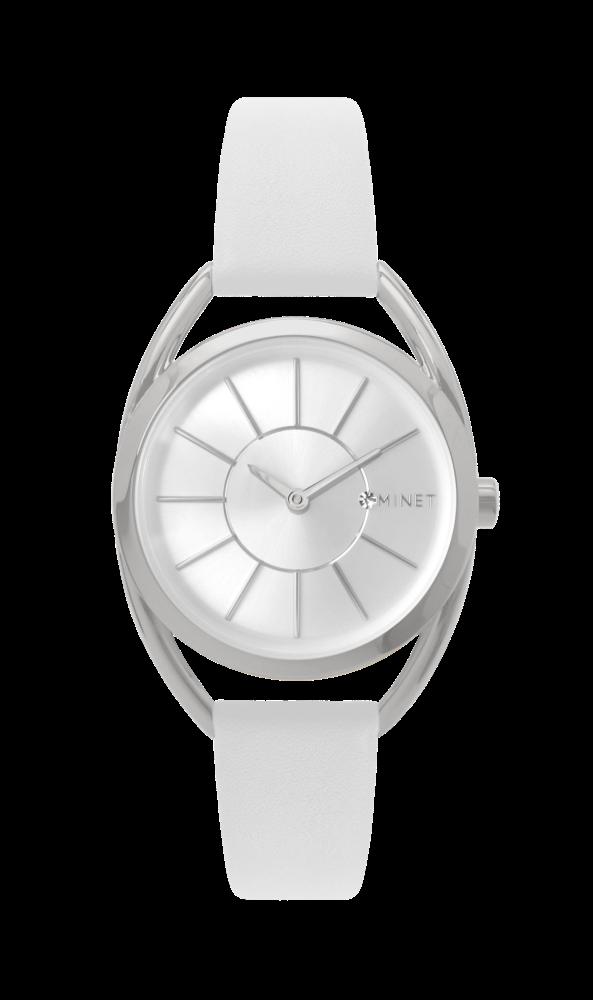 Bílé dámské hodinky MINET ICON SILVER WHITE MWL5026