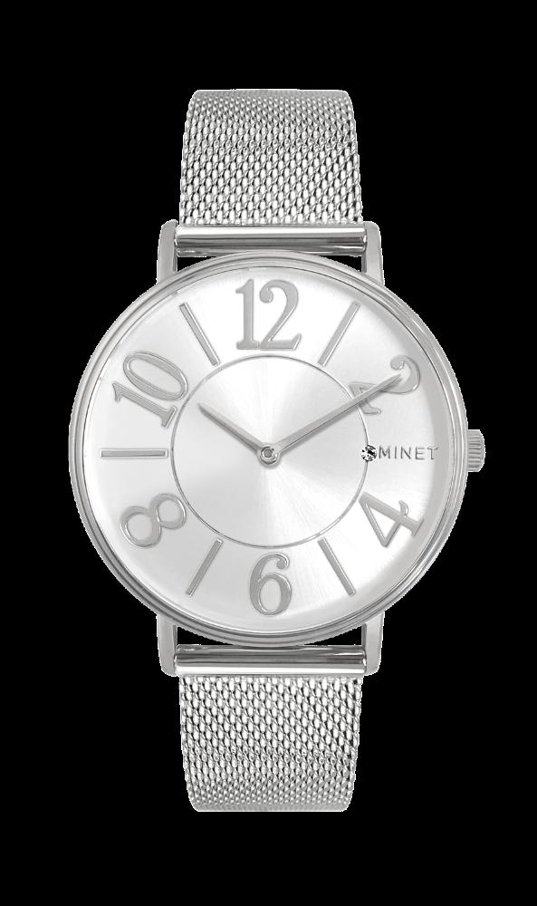 Stříbrné dámské hodinky MINET PARIS Silver Mesh MWL5050 254c16e3cf