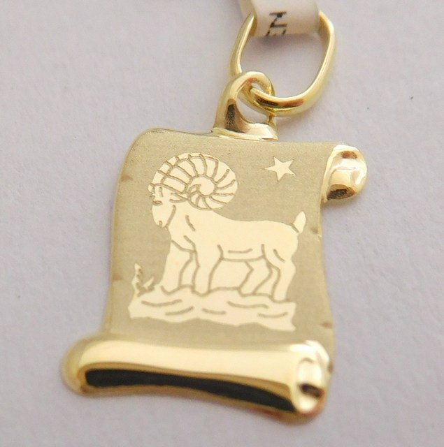 Zlatý přívěsek - zlaté znamení BERAN na pergamenu 585/0,40gr 1322006