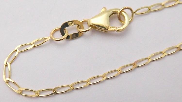 09e0a25bf Pevný zlatý náramek na nohu OČKA PODÉLNÉ v délce 25cm 585/1,20gr 3041033