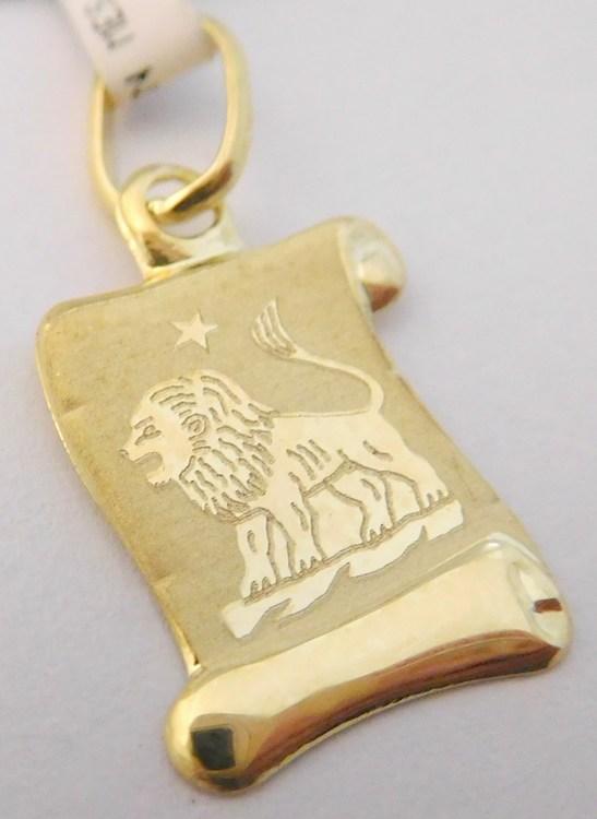 Zlatý přívěsek - zlaté znamení LEV na pergamenu 585/0,40gr 1322006