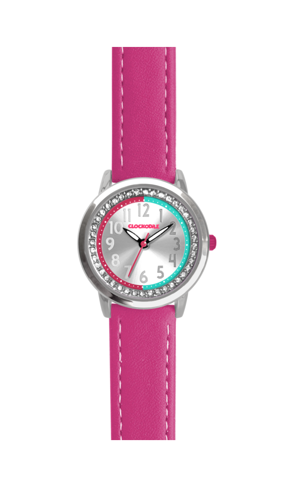 Růžové třpytivé dívčí hodinky se kamínky CLOCKODILE SPARKLE CWG5073