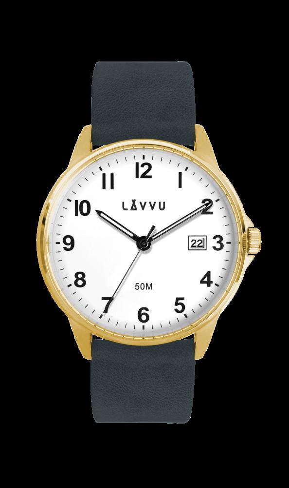 Modro-zlaté hodinky LAVVU GÖTEBORG LWM0114