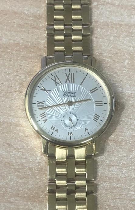 Luxusní dámské zlaté hodinky Philippe Michelle s vteřinovou ručičkou 585/63,95gr