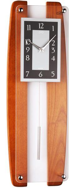 Dřevěné hnědé nástěnné hodiny JVD quartz N12033.41