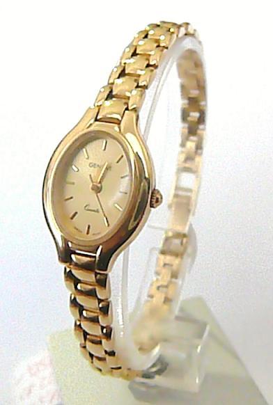 Luxusní dámské zlaté švýcarské hodinky GENEVE 585/22,35gr T159