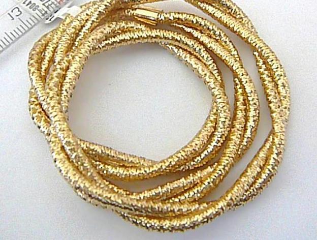 Luxusní dámský zlatý natahovací náhrdelník nebo náramek 40cm/5,65g