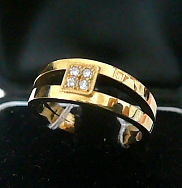 Luxusní diamantový prsten se čtyřmi diamanty a žlutého zlata 585/5,87 - vel. 57