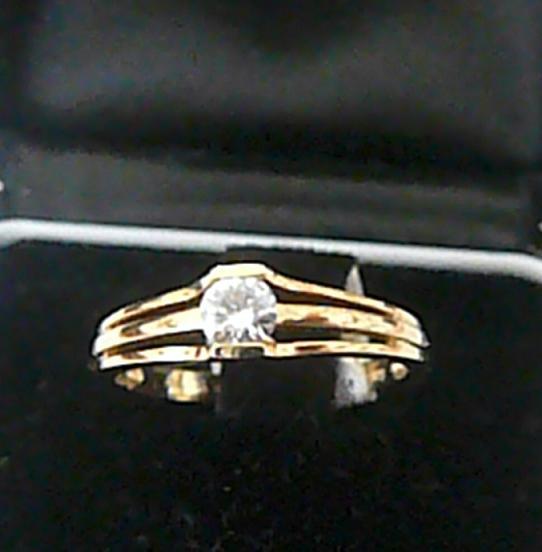 Zlatý zásnubní prstýnek s mohutným diamantem vel. 52 585/2,3gr