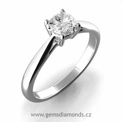 Luxusni Zasnubni Prsten S Diamantem Anna Bile Zlato Zlatnictvi