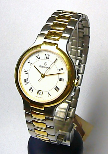 Luxusní značkové švýcarské ocelové pánské hodinky GROVANA 2047.1143
