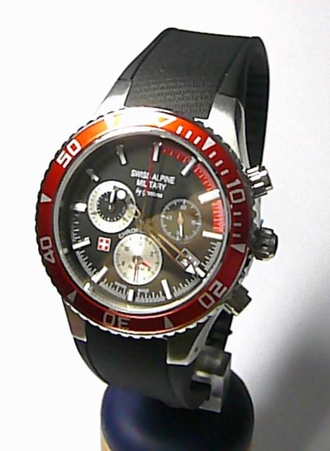 Pánské švýcarské hodinky - chronograf Swiss Alpine Military by Grovana 1607.8834