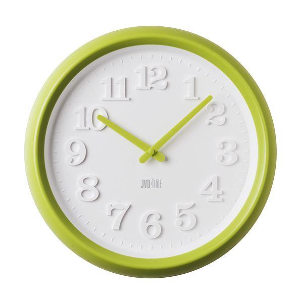 Dětské zelené nástěnné hodiny JVD TIME H101.3