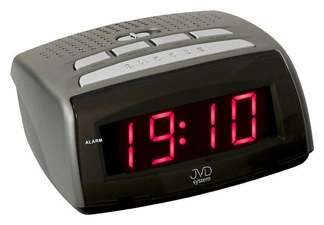 Moderní stříbrný digitální svítící budík JVD system SB0720.6