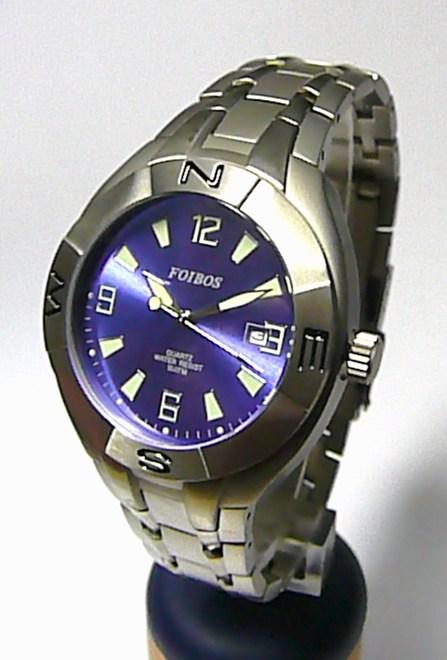 Pánské titanové vodotěsné značkové hodinky Foibos 6397.1 10ATM