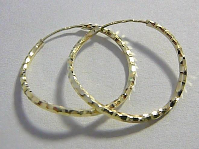 Luxusní zlaté kroužky s gravírováním - zlaté kruhy 20mm 585/1,02gr P035