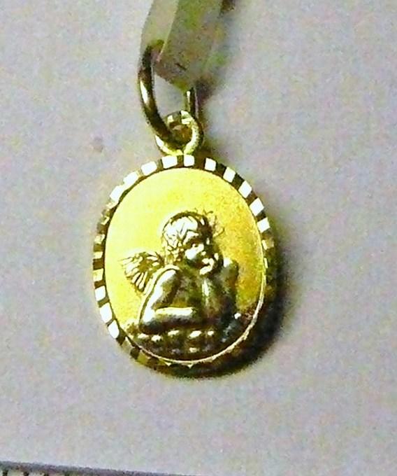 Zlatý přívěsek - zlatý anděl andělíček ze žlutého zlata 585/0,6g P051