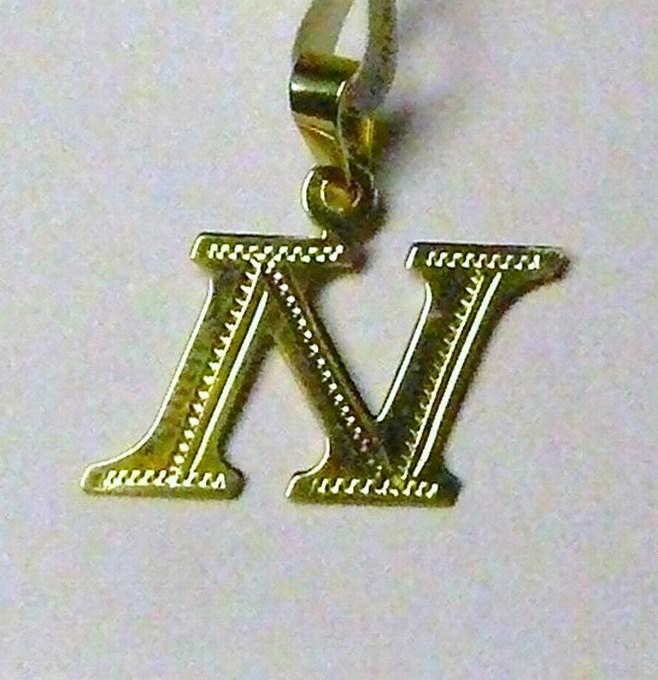 Zlatý přívěsek - zlaté písmenko N 585/0,47g P052