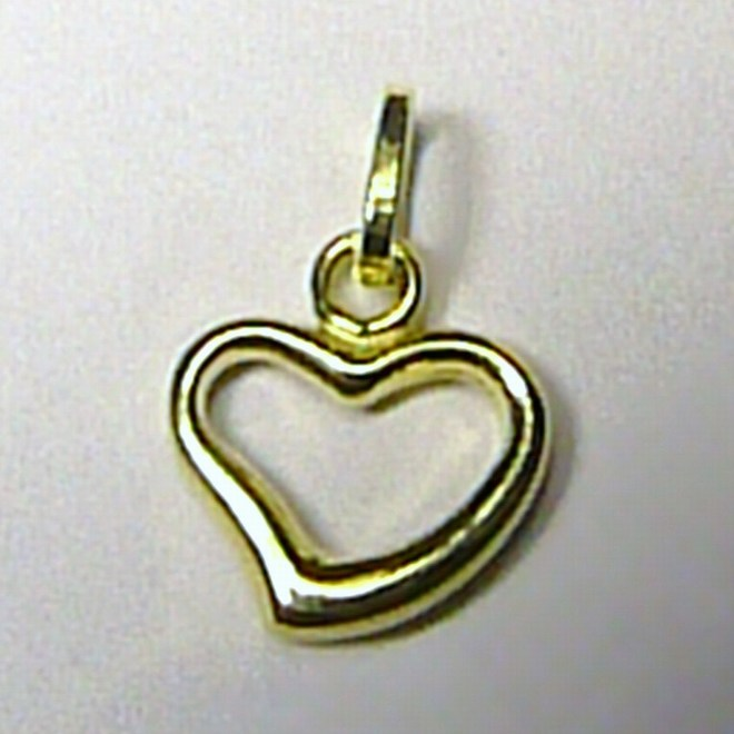 Valtentýnské zlaté srdíčko - přívěsek 585/0,6gr T056