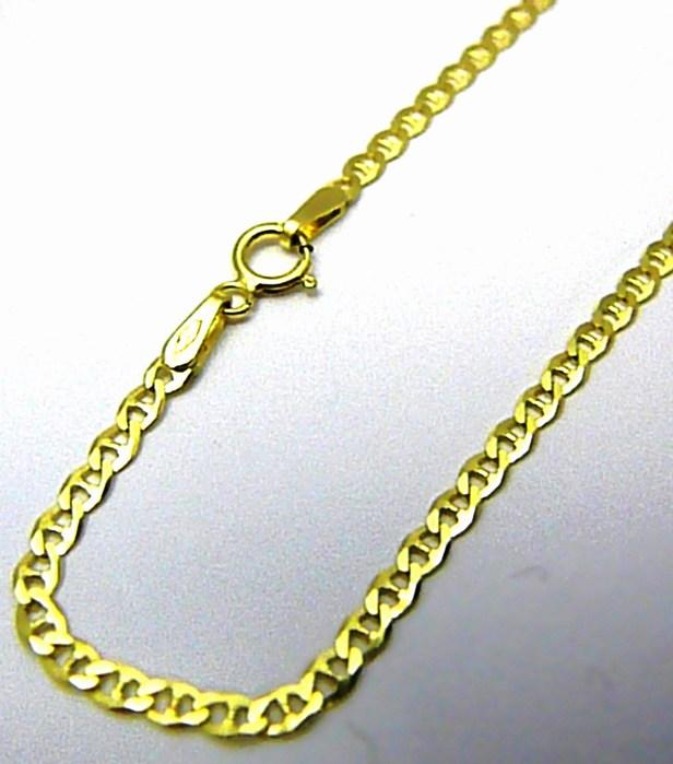 Dámský silný mohutný zlatý náramek ze žlutého AU 19,5cm 585/1,42gr H027