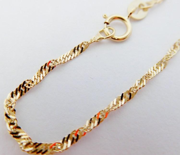 Luxusní dámský široký cca 2mm zlatý řetízek TWIST 50cm/1,69gr H031 (POŠTOVNÉ ZDARMA!!)
